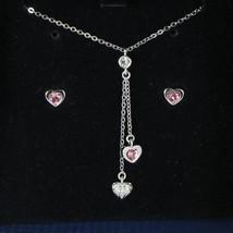Swarovski 1039048 Leslie Necklace & Earrings Set Pink Hearts Crystal NWT $100 - $93.09