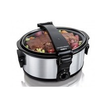 Slow Cooker Crock Pot Portable Food Recipe Chef Kitchen 6 Quart Tailgati... - £65.66 GBP