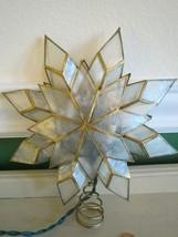 Vintage Kurt Adler Capiz 8 Point Star Christmas Tree Topper w/original box - $32.18