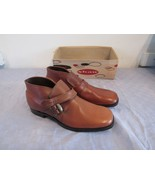 Vintage Shaw Brown Leather Demi Boots Shoes 10.5 D - $143.58