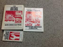 1979 Ford Medium e Resistente Camion Service Manuale di Negozio Set con - $127.85