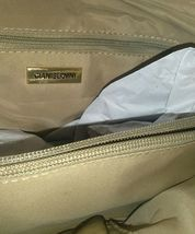 $129 Gianni Bernini Turnlock Glazed Dome Satchel Ivory (Ivory). new with tags image 9