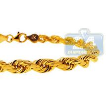 Real 10K Yellow Gold Rope Mens Wrist Bracelet 5... - $296.01