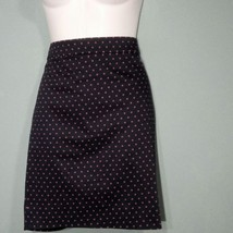 J.Crew Womens Skirt Pencil Style Navy Blue Red Polka Dot Size 6 P MSRP $85 - $32.82