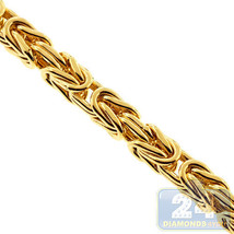 Mens Gold Byzantine Chain 10K Yellow Classic Link 7 mm 26 Inches 79 Grams - $2,803.99