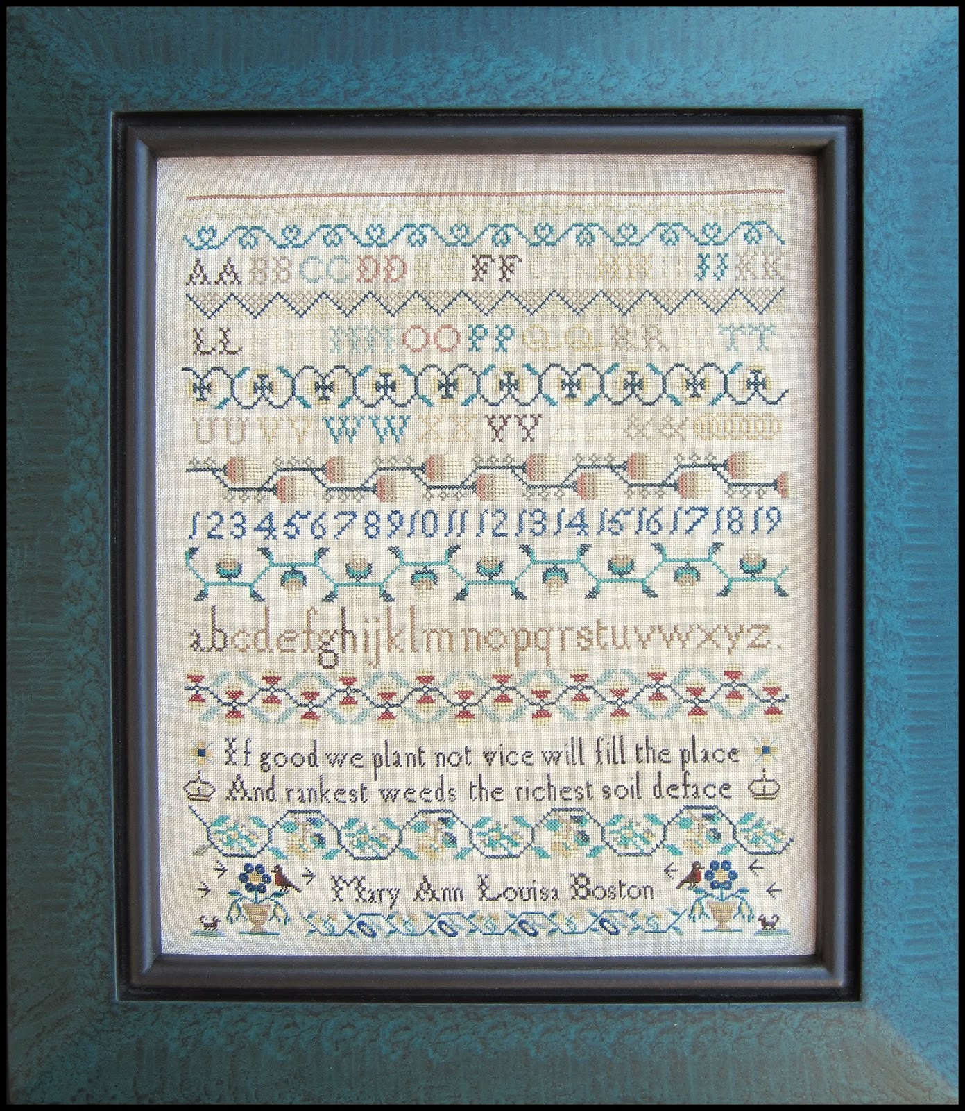 Primary image for Mary Ann Louisa Boston sampler cross stitch chart The Scarlett House