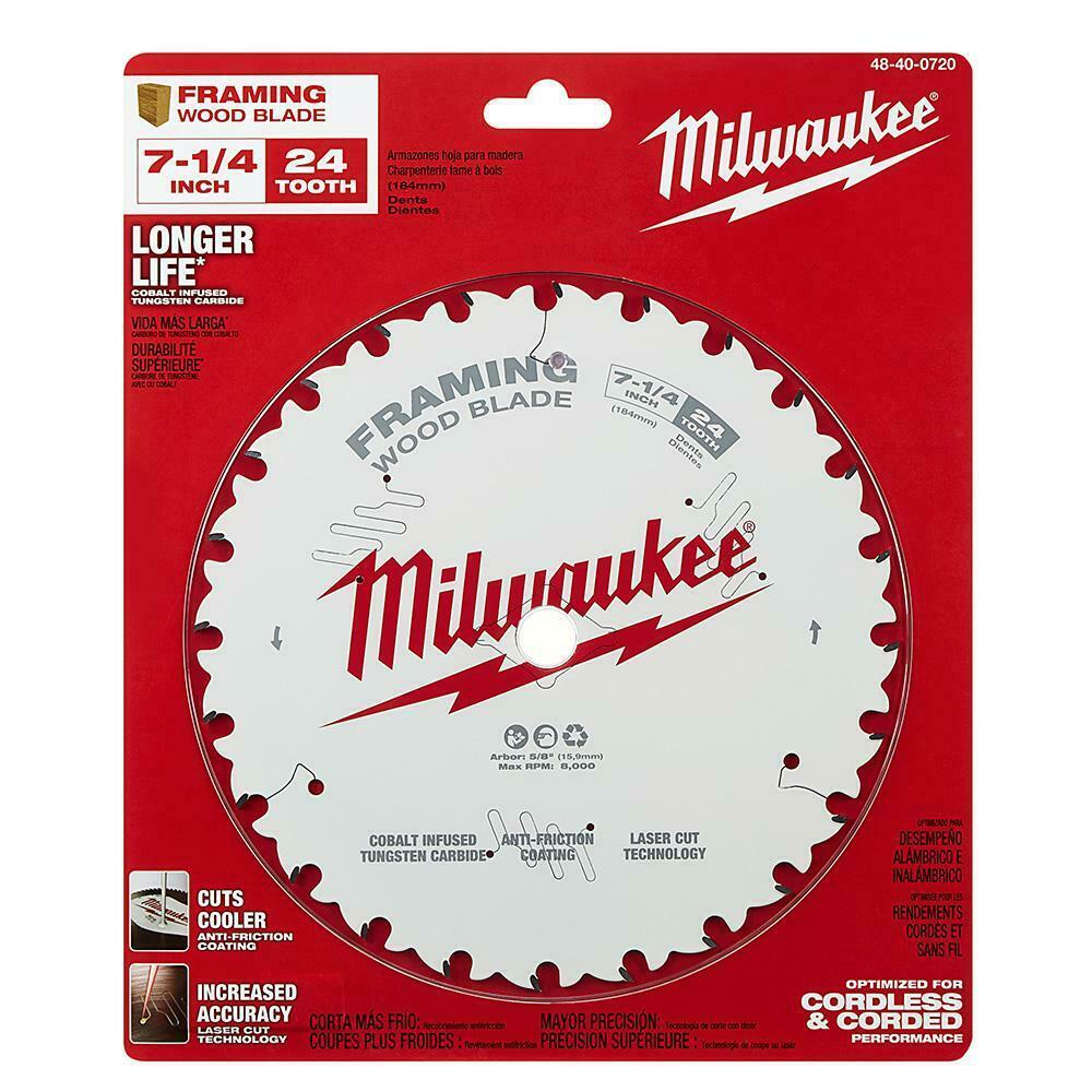 Primary image for Milwaukee - 48-40-0720 - 7-1/4 in. x 24-Tooth Framing Circular Saw Blade