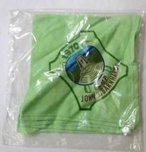 New Green Bandana Vintage 1970 Neckerchief CAMP JOHN J BARNHARDT Boy Scouts - $24.03