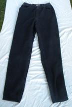Authentic Liz Claiborne Casual Comfort Black Pants 10L  waist 28 100% co... - $12.00