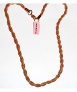 "Twisted Mesh Chain, 14K Rose Gold Over Stainless Steel, 20""L, 2.9 mm, 12... - $0.00"