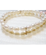 "White Freshwater Pearl Bracelet, Stretchable, 6"" Relaxed - FREEBIE With Purhcase - Freebie"