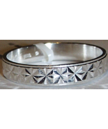 NICKEL FREE BRUSHED STERLING SILVER BAND WITH HIGH POLISH LASER ETCHING,... - $17.99