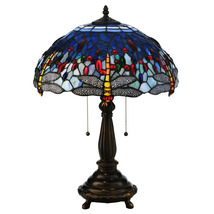 "Meyda Home Indoor 22""H Tiffany Hanginghead Dragonfly Table Lamp - 1235-1... - $375.80"