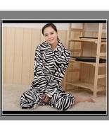Soft Fleece Lovers Women or Men's Zebra Striped Luxury Lounger Beach Bat... - $86.95