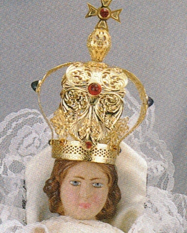 Infant of prague metal crown