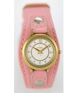Fossil Watch Womens Pink Leather Stainless Gold Water Resist 30m Silver Quartz - $33.46