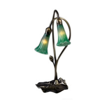 "Meyda Home Indoor Decorative 16""H Green Pond Lily 2 Lt Accent Lamp - 123... - $102.06"