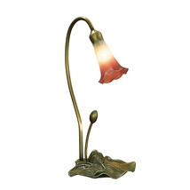"Meyda Home Indoor Decorative 16""H Pink/White Pond Lily Accent Lamp - 123... - $100.20"
