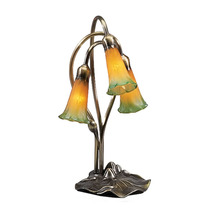 "Meyda Home Decorative 16""H Amber/Green Pond Lily 3 Lt Accent Lamp - 1235... - $132.30"