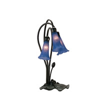 "Meyda Home Indoor Decorative 16""H Blue Pond Lily 3 Lt Accent Lamp - 1235... - $132.30"
