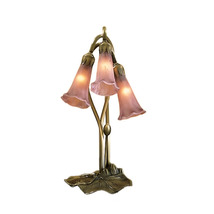 "Meyda Home Decorative 16""H Cranberry Pond Lily 3 Lt Accent Lamp - 1235-1... - $132.30"