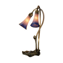 "Meyda Home Decorative 16""H Pink/Blue Pond Lily 2 Lt Accent Lamp - 1235-1... - $103.24"
