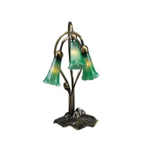 "Meyda Home Indoor Decorative 16""H Green Pond Lily 3 Lt Accent Lamp - 123... - $132.30"