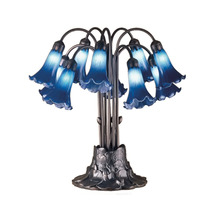 """Meyda Home Indoor Decorative 22""""H Blue Pond Lily 10 Lt Table Lamp - 1235... - $543.60"""