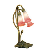 "Meyda Home Indoor 16""H Pink/White Pond Lily 3 Lt Accent Lamp - 1235-14813 - $149.31"