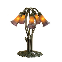 "Meyda Home Indoor 16.5""H Amber/Purple Pond Lily 5 Lt Accent Lamp - 1235-... - $247.59"