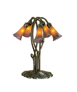 """Meyda Home Indoor 16.5""""H Amber/Purple Pond Lily 5 Lt Accent Lamp - 1235-... - $247.59"""