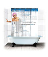 SOCIAL MEDIA PAGE Cool Design 1.8 x 1.8 m Polyester Bathroom Use SHOWER ... - $23.99