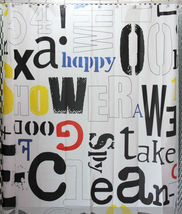 Graffiti Alphabet Design 180 x 200 cm Cool Design Bathroom Use SHOWER CU... - $19.99