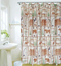Country Side & Animal 180 X 180 Cm Bathroom Use Polyester Shower Curtain Set - $29.99