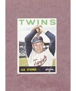 1964 Topps high # 555 Lee Stange Minnesota Twins - $3.49