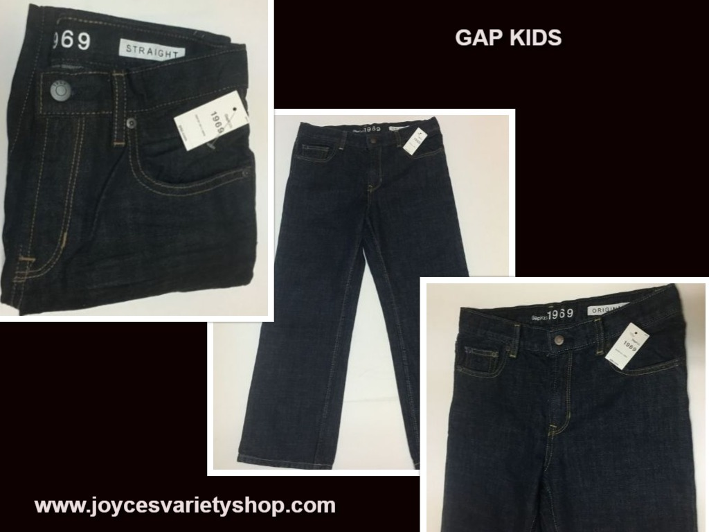 Gap kids 8 husky jeans web collage