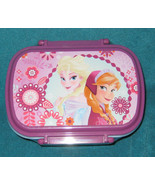 Disney Store Frozen Elsa and Anna Snack or Lunch Box. Removable Compartm... - $18.69