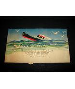 1930's Antique BON VOYAGE Rocking Ocean Sea Cruise Ship Card Ephemera So... - $18.99