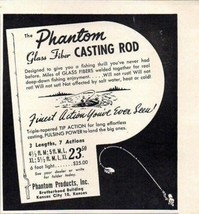 1949 Print Ad The Phantom Glass Fiber Fishing Casting Rods Kansas City,KS - $12.67