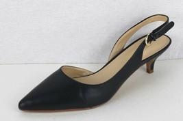 Nine West Ilaria women's shoes leather upper blue buckle medium high size 7M - $15.83