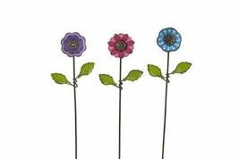 MW Studio M Spring Decor- Miniature Metal Button Flowers 3pc Set - $14.80
