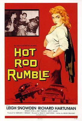 Primary image for Hot Rod Rumble - 1957 - Movie Poster