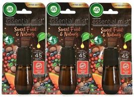 (3) Air Wick Essential Mist Sweet Fruit & Nutmeg Fragrance Refill 0.67 Oz - $21.77