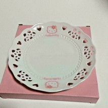 "Vintage 1997 Sanrio Hello Kitty Lace plate 7.2"" New Limited Ceramic Pink... - $120.00"