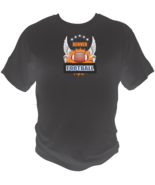 Denver Football Sports Style Graphic T Shirt Black Red White L XL 2XL - $19.99