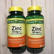 (2) Zinc 50mg Dietary Supplement Immune Health 400 Caplets - $94.56