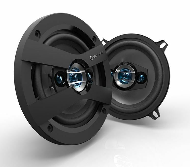 "Scosche Car  Speaker Stereo Set Pair 5.25"" HD 4 Way 140 Watt  35W RMS + Grills"