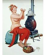 Vintage Hilda Plus Size Girl 1950's  Reproduction Print #75 - $24.95
