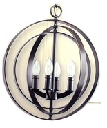 Progress Lighting Foyer Pendant Antique Bronze Hanging Light Fixture Round - $59.99