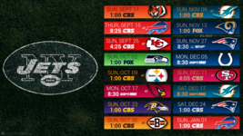 New York Jets 2017 schedule turf Poster 24 X 36 inch - $18.99